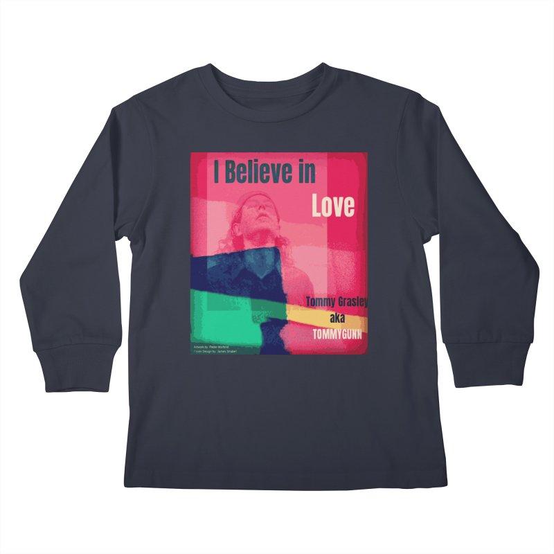 I Believe In Love Album Art - TOMMYGUNN Kids Longsleeve T-Shirt by fever_int's Artist Shop