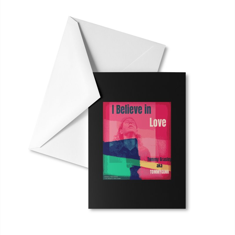 I Believe In Love Album Art - TOMMYGUNN Accessories Greeting Card by fever_int's Artist Shop
