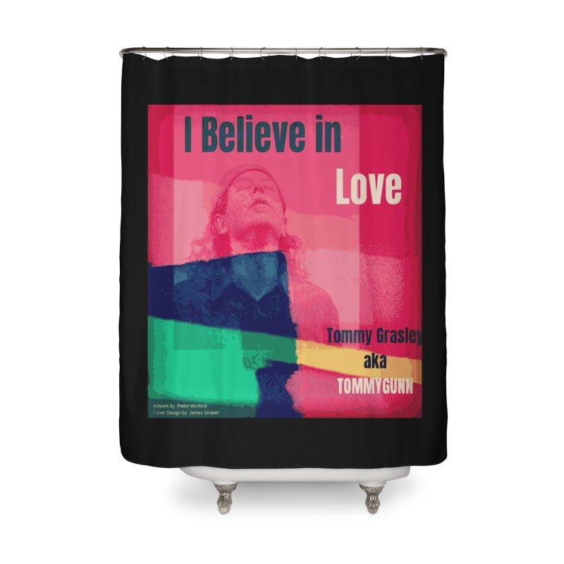 I Believe In Love Album Art - TOMMYGUNN Home Shower Curtain by fever_int's Artist Shop