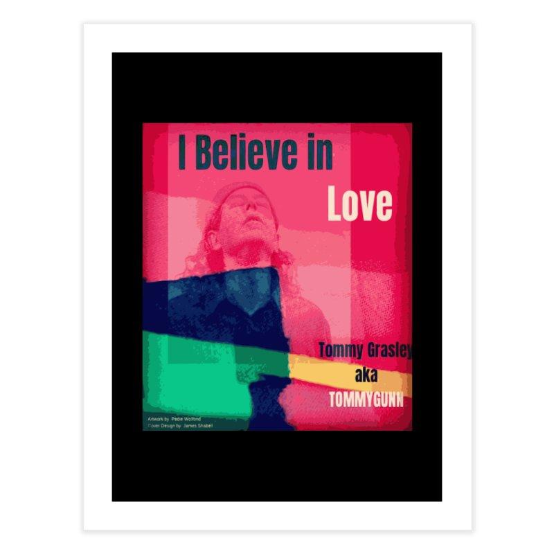 I Believe In Love Album Art - TOMMYGUNN Home Fine Art Print by fever_int's Artist Shop