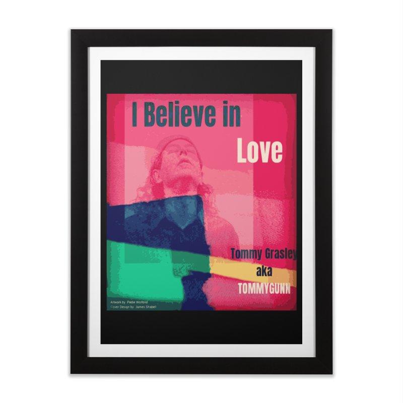 I Believe In Love Album Art - TOMMYGUNN Home Framed Fine Art Print by fever_int's Artist Shop