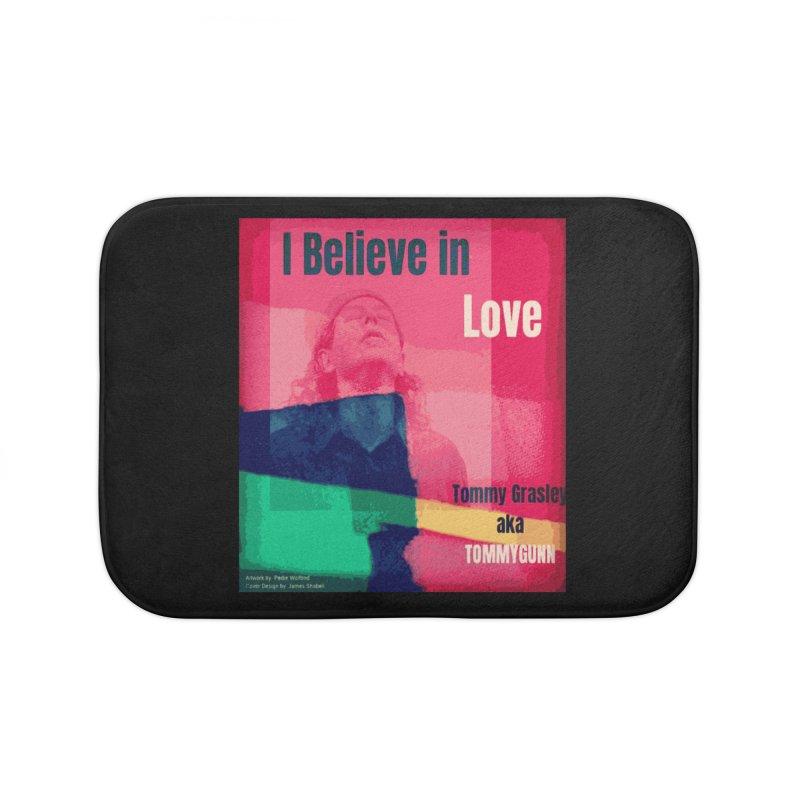 I Believe In Love Album Art - TOMMYGUNN Home Bath Mat by fever_int's Artist Shop
