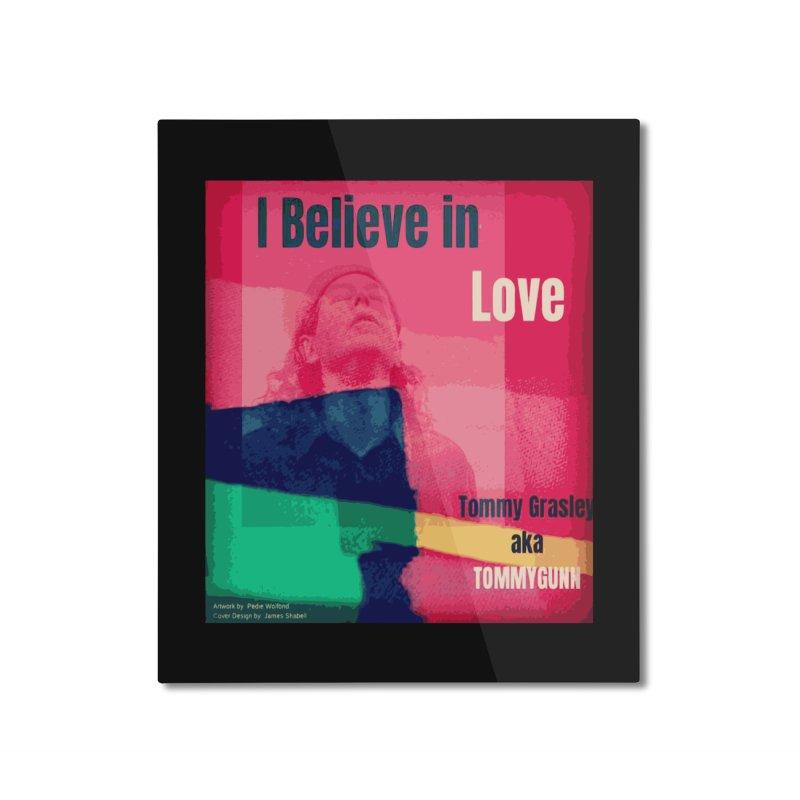 I Believe In Love Album Art - TOMMYGUNN Home Mounted Aluminum Print by fever_int's Artist Shop