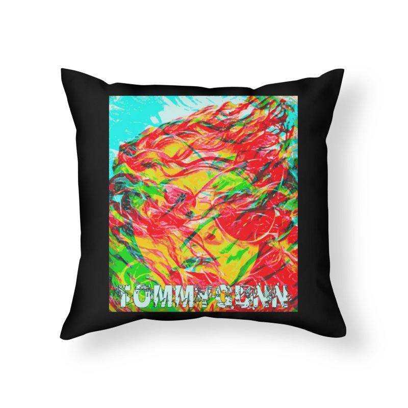 TOMMYGUNN-ART PRINT- Merch Home Throw Pillow by fever_int's Artist Shop