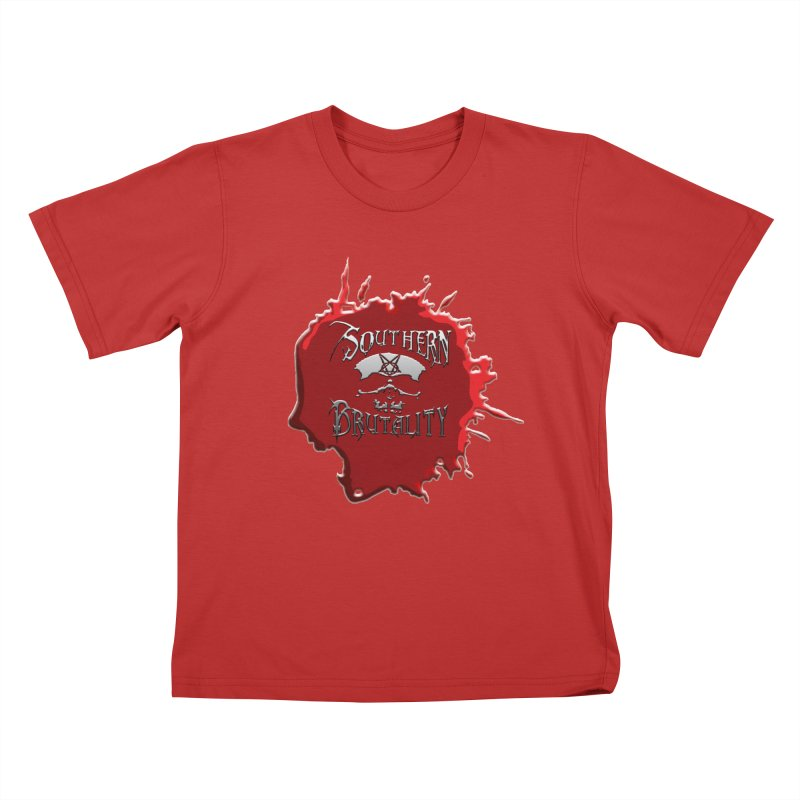 Southern Brutality - Jon - Head Merch Kids T-Shirt by fever_int's Artist Shop