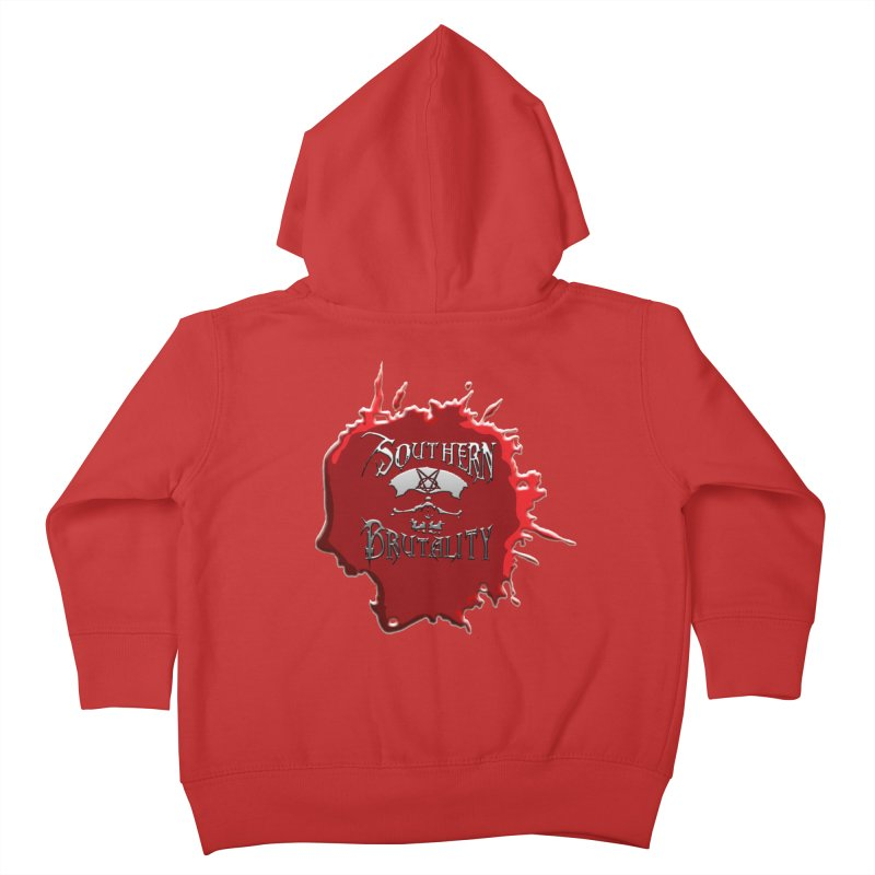 Southern Brutality - Jon - Head Merch Kids Toddler Zip-Up Hoody by fever_int's Artist Shop