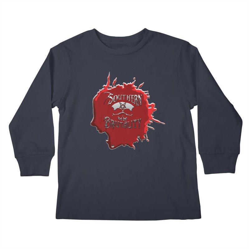 Southern Brutality - Jon - Head Merch Kids Longsleeve T-Shirt by fever_int's Artist Shop