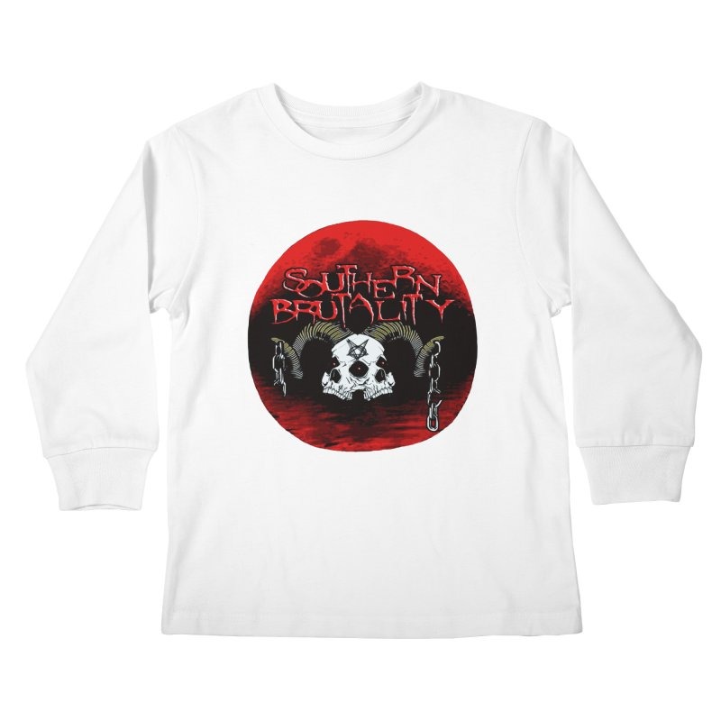 Death Skull - Design Style A Kids Longsleeve T-Shirt by fever_int's Artist Shop