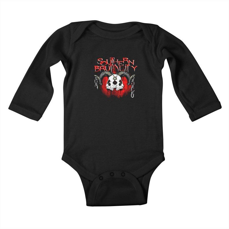 Southern Brutality - Art - Merchandise Kids Baby Longsleeve Bodysuit by fever_int's Artist Shop