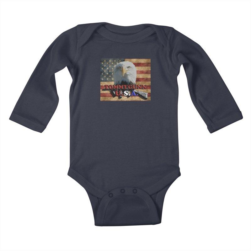 TOMMYGUNN - Eagle Merch Kids Baby Longsleeve Bodysuit by fever_int's Artist Shop