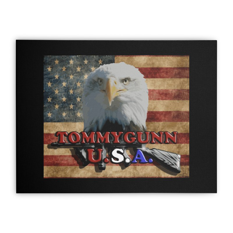 TOMMYGUNN - Eagle Merch Home Stretched Canvas by fever_int's Artist Shop