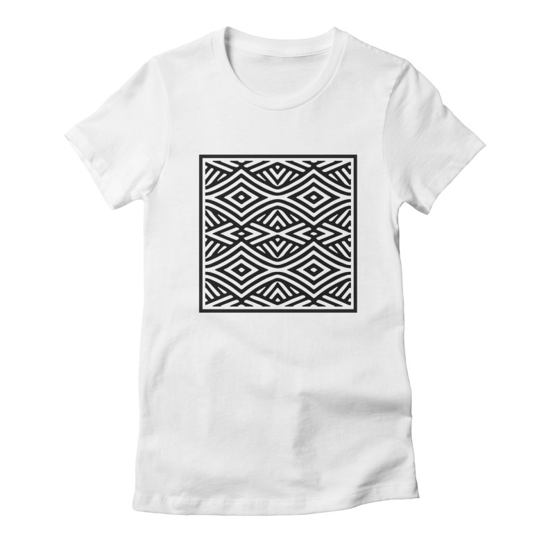 tribe in Women's Fitted T-Shirt White by fgfd's Artist Shop