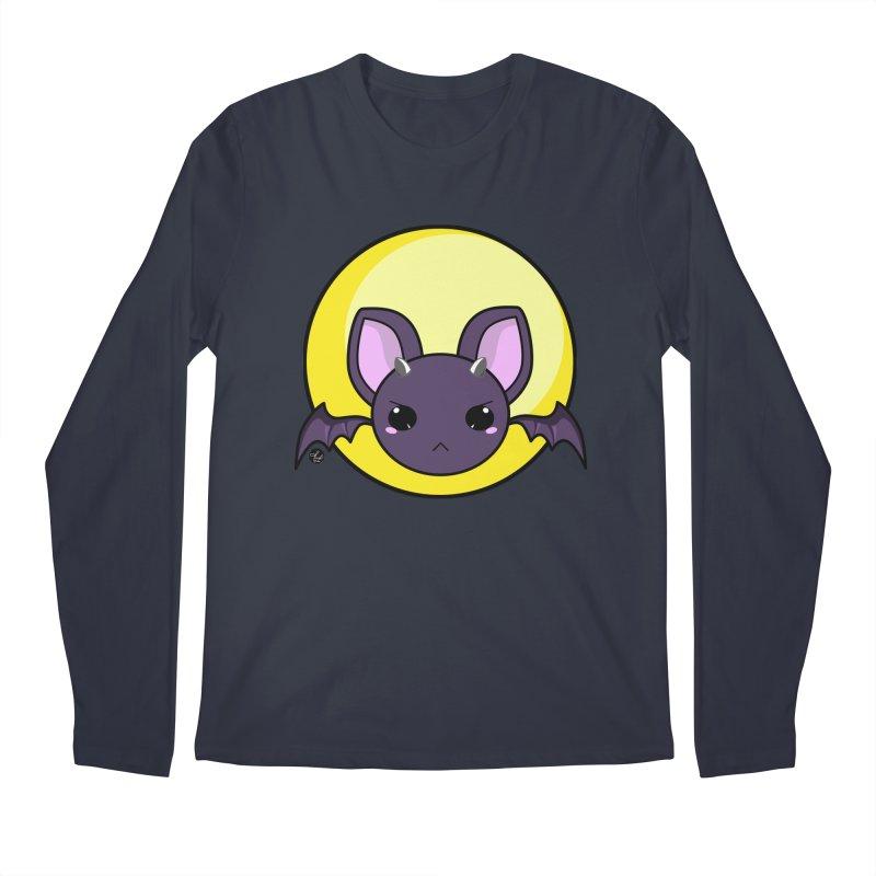 batty Men's Regular Longsleeve T-Shirt by Black and White Shop