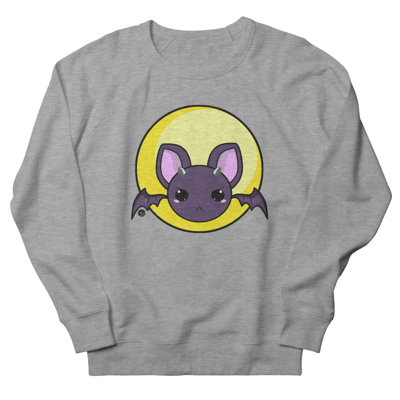 batty Women's French Terry Sweatshirt by Black and White Shop