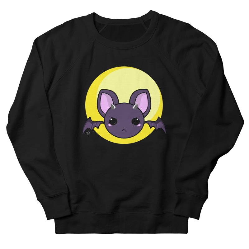 batty Men's French Terry Sweatshirt by Black and White Shop