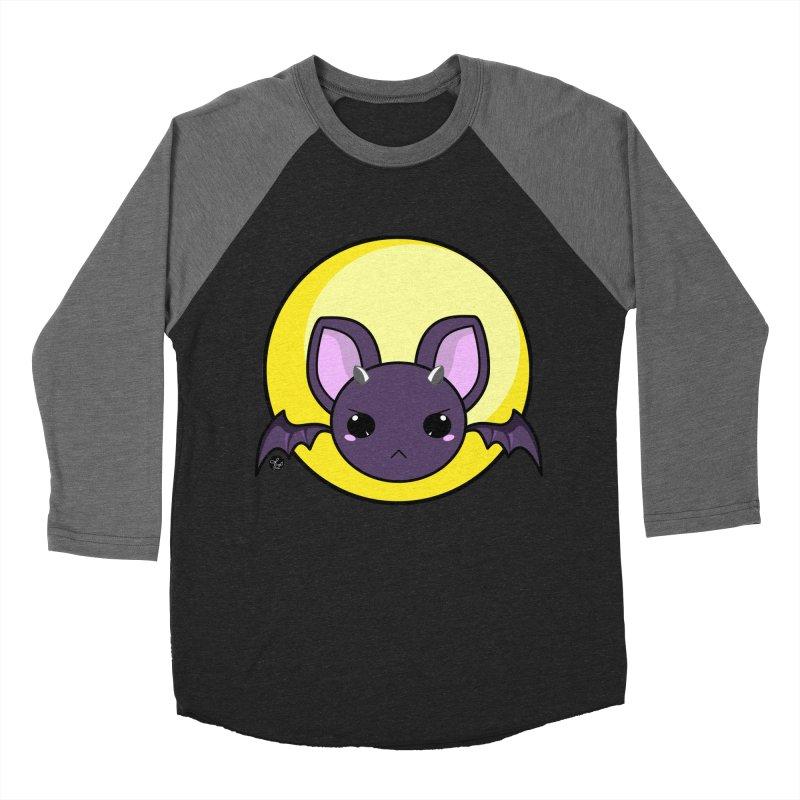 batty Women's Baseball Triblend T-Shirt by Black and White Shop
