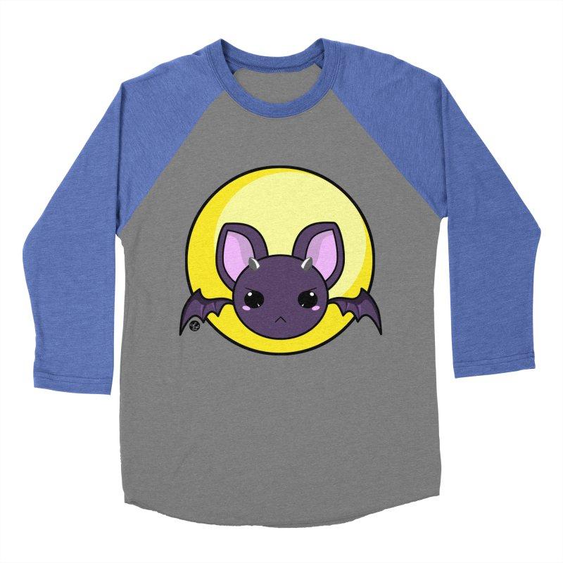 batty Men's Baseball Triblend Longsleeve T-Shirt by Black and White Shop