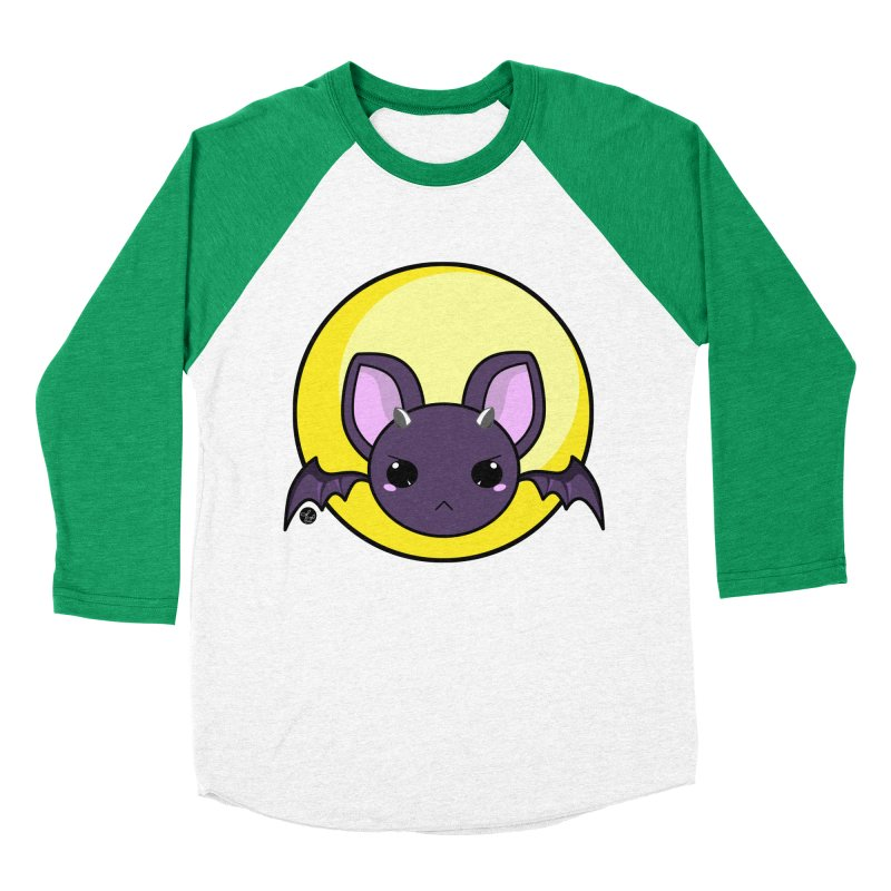 batty Men's Baseball Triblend T-Shirt by Black and White Shop
