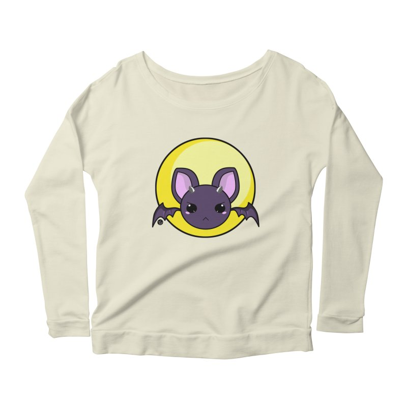 batty Women's Longsleeve Scoopneck  by Black and White Shop
