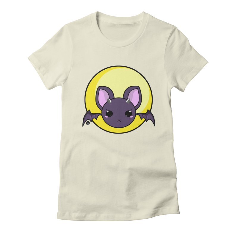 batty Women's Fitted T-Shirt by Black and White Shop