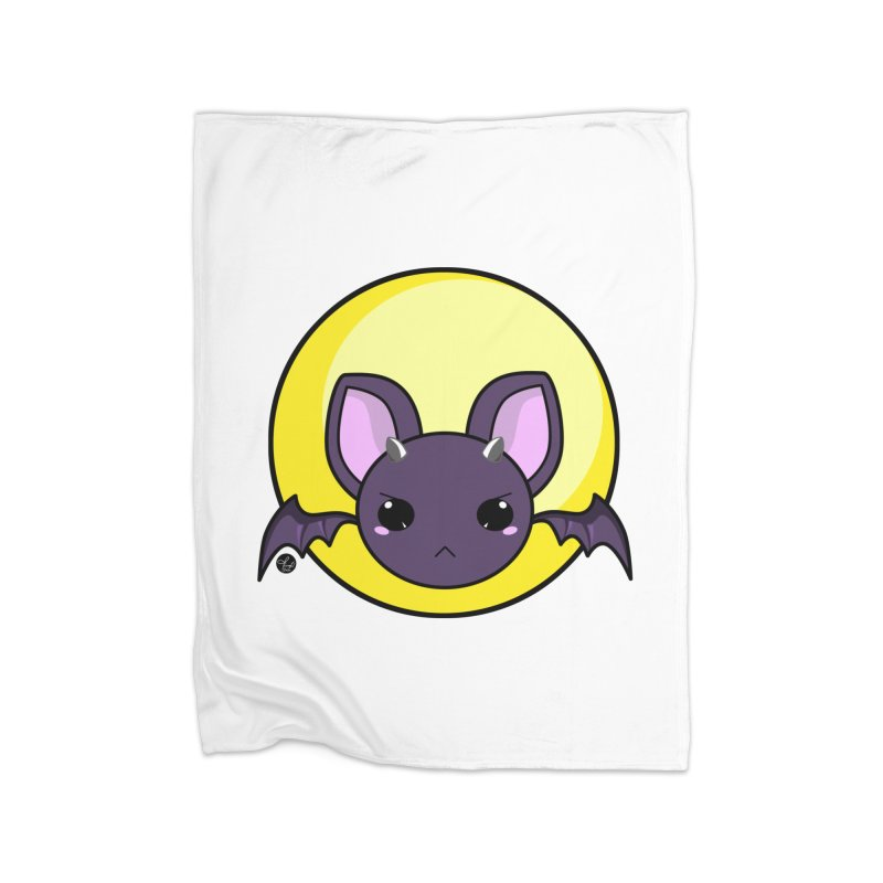 batty Home Fleece Blanket Blanket by Black and White Shop