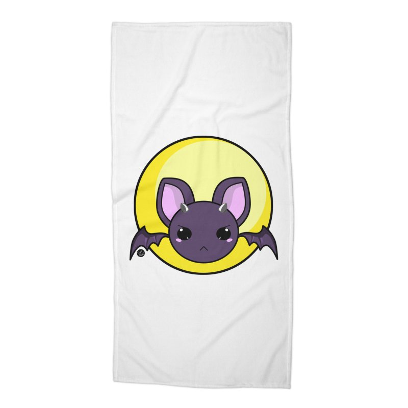 batty Accessories Beach Towel by Black and White Shop
