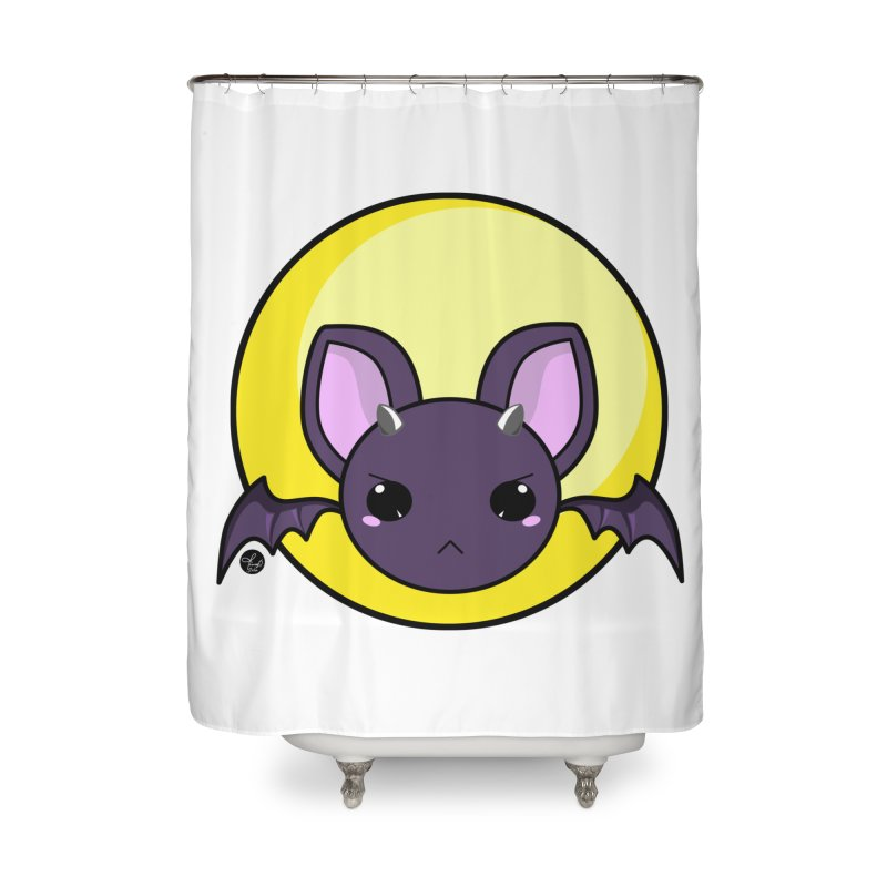 batty Home Shower Curtain by Black and White Shop