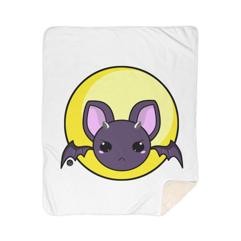 batty Home Sherpa Blanket Blanket by Black and White Shop