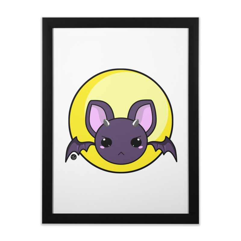 batty Home Framed Fine Art Print by Black and White Shop