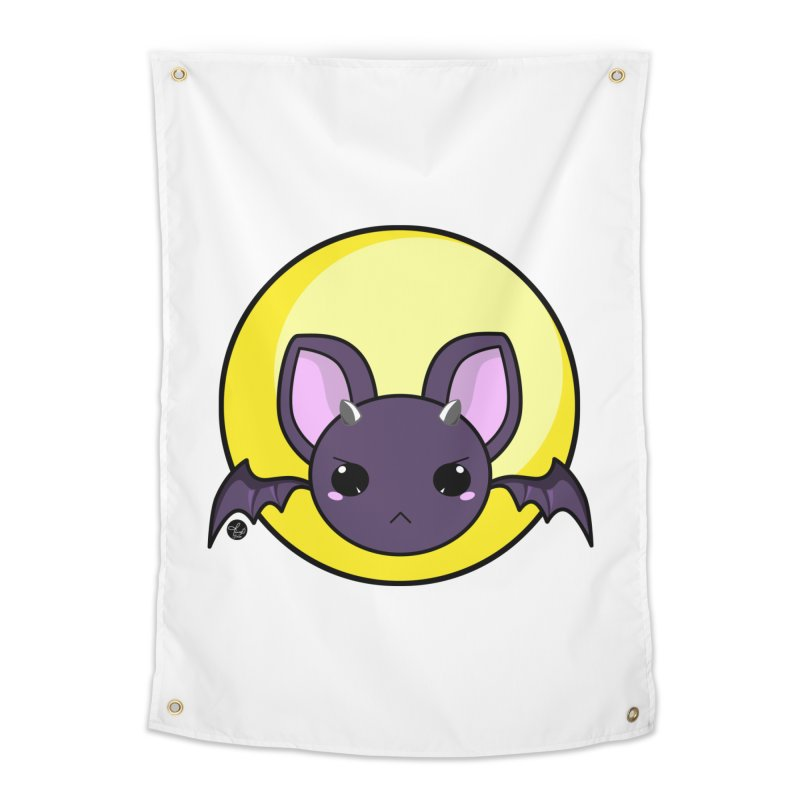 batty Home Tapestry by Black and White Shop