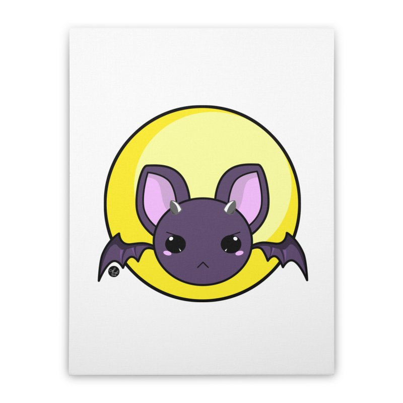 batty Home Stretched Canvas by Black and White Shop