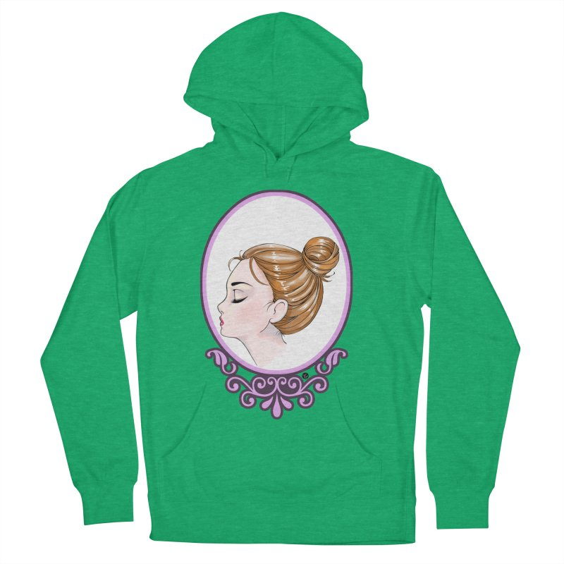 Lady Ornament Women's French Terry Pullover Hoody by Black and White Shop