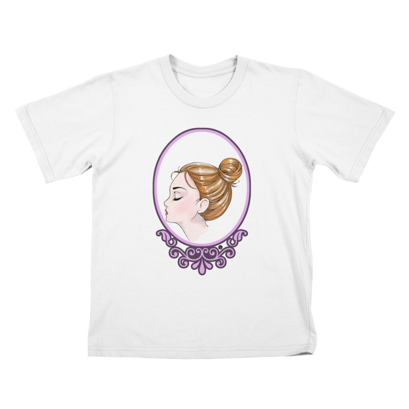 Lady Ornament Kids T-Shirt by Black and White Shop