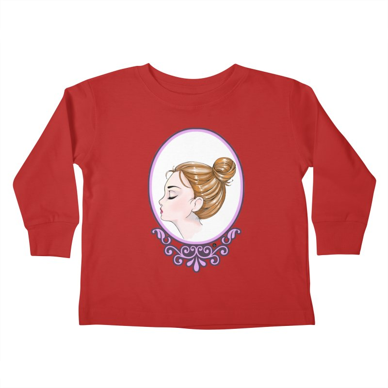 Lady Ornament Kids Toddler Longsleeve T-Shirt by Black and White Shop