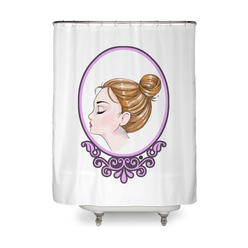 Lady Ornament Home Shower Curtain by Black and White Shop