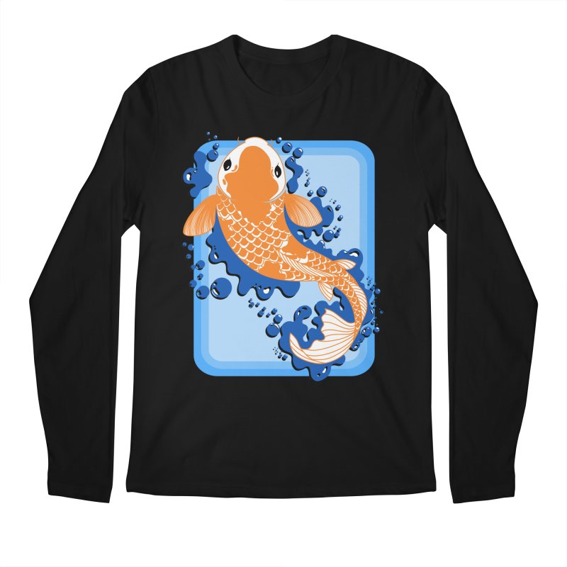 Koi Men's Longsleeve T-Shirt by Black and White Shop
