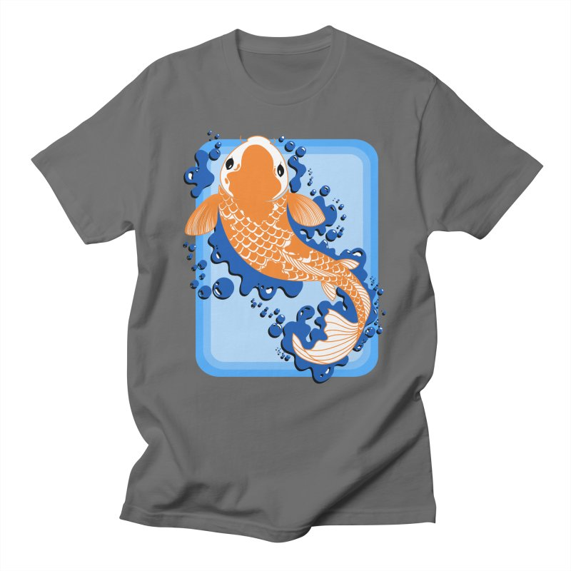 Koi Men's T-shirt by Black and White Shop