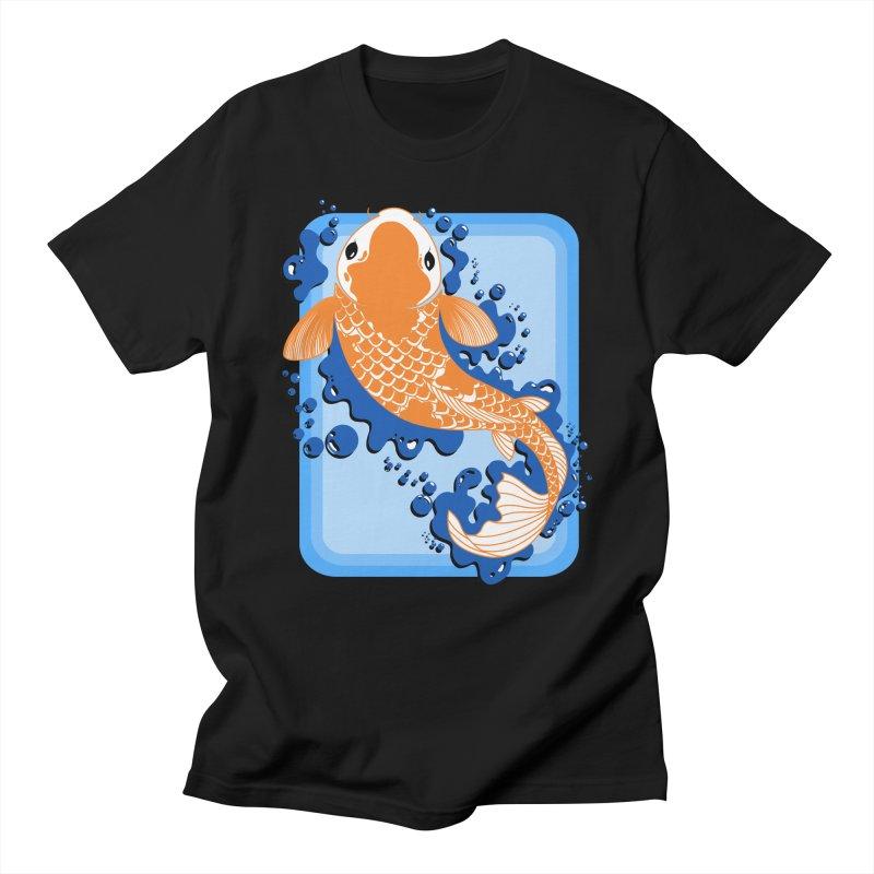 Koi Men's Regular T-Shirt by Black and White Shop