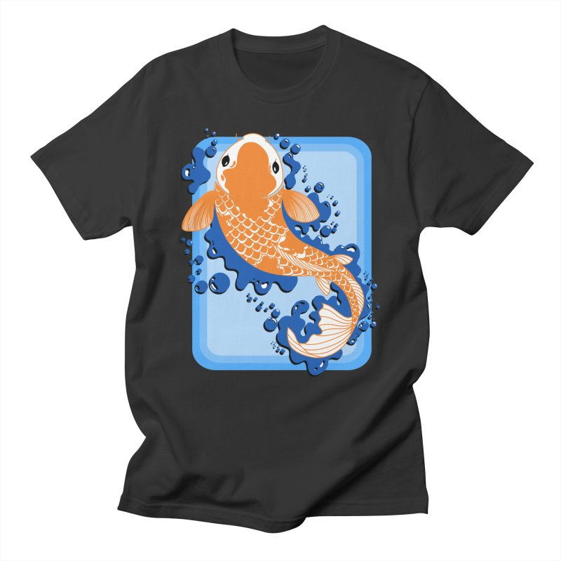 Koi Men's T-Shirt by Black and White Shop