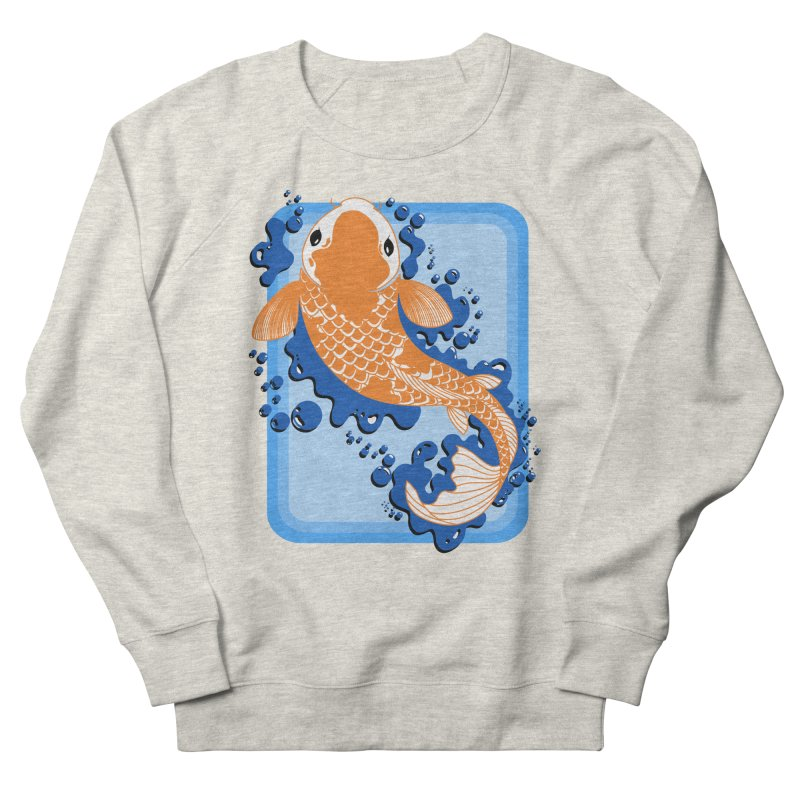 Koi Men's French Terry Sweatshirt by Black and White Shop