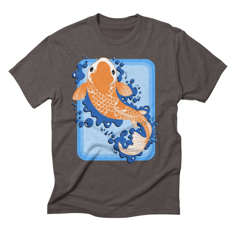Koi Men's Triblend T-Shirt by Black and White Shop