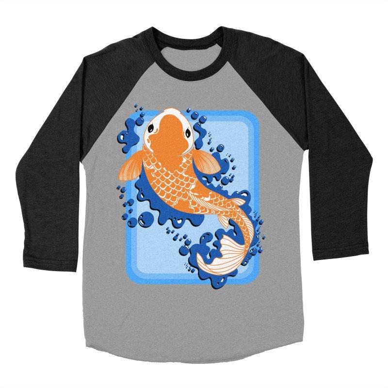 Koi Men's Baseball Triblend Longsleeve T-Shirt by Black and White Shop