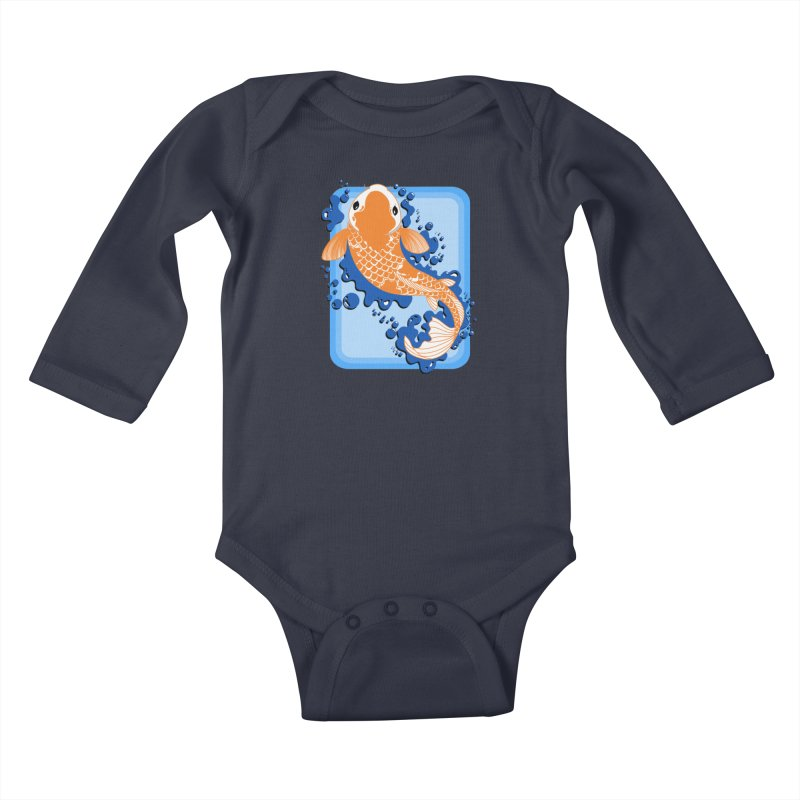 Koi Kids Baby Longsleeve Bodysuit by Black and White Shop