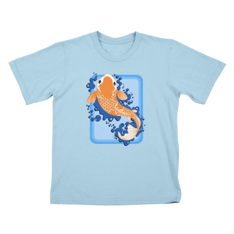 Koi Kids T-Shirt by Black and White Shop