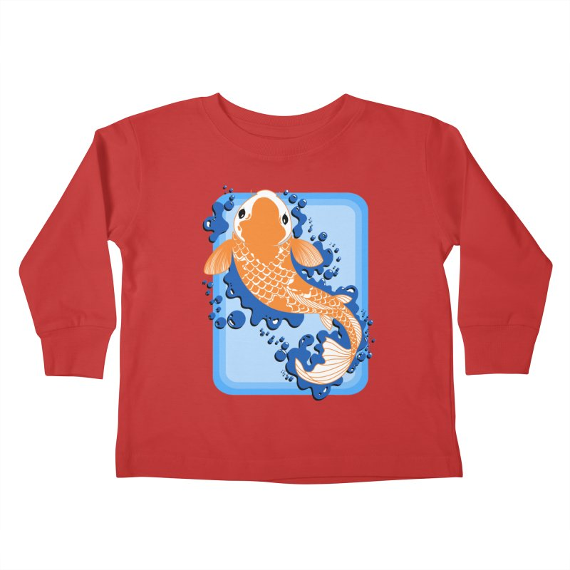Koi Kids Toddler Longsleeve T-Shirt by Black and White Shop