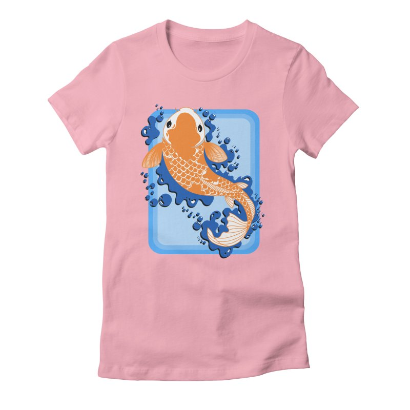 Koi Women's Fitted T-Shirt by Black and White Shop