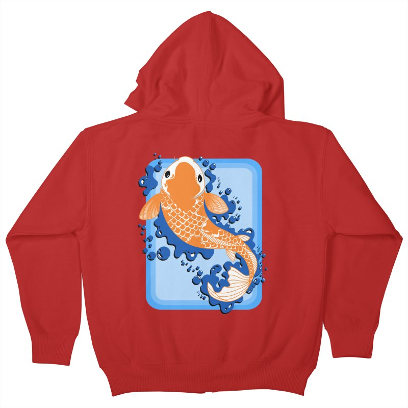 Koi Kids Zip-Up Hoody by Black and White Shop