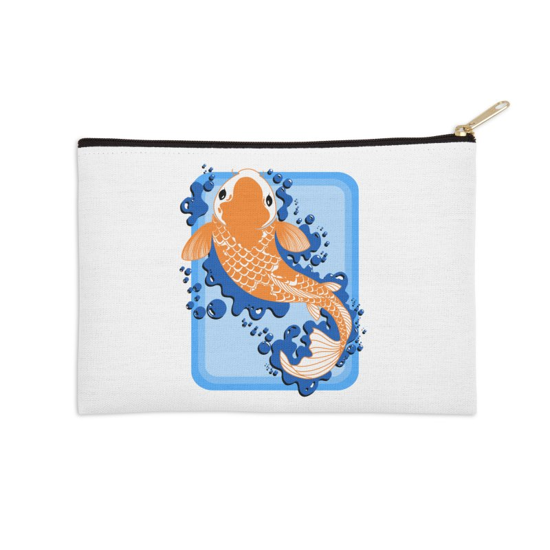 Koi Accessories Zip Pouch by Black and White Shop