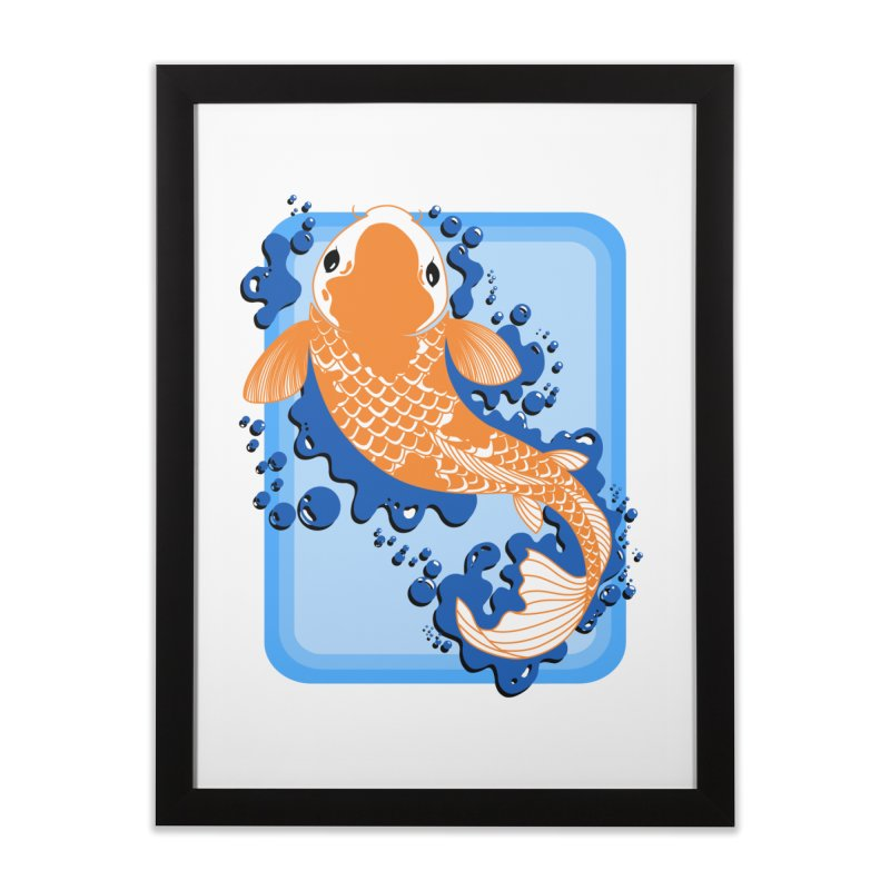 Koi Home Framed Fine Art Print by Black and White Shop