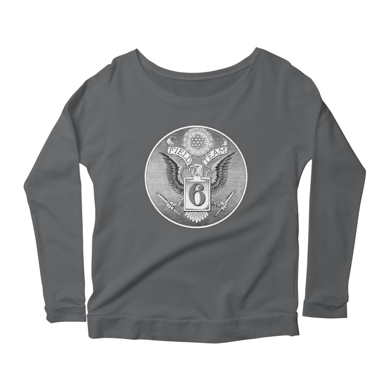 Field Team 6 Logo Gear Women's Scoop Neck Longsleeve T-Shirt by Field Team 6 Store